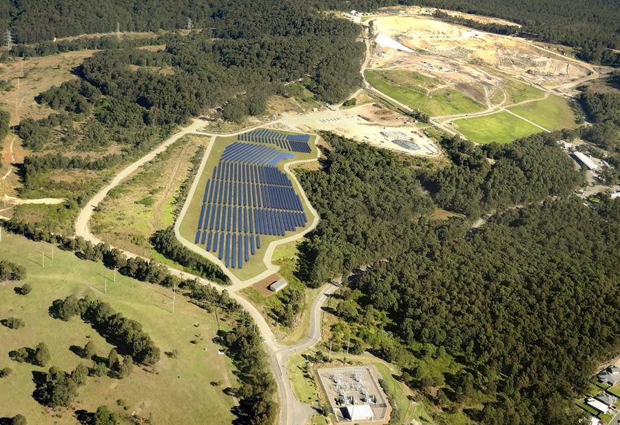 solar farm newcastle greenhills waste management