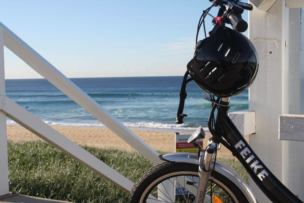 feike feiki cycle bike newcastle beach