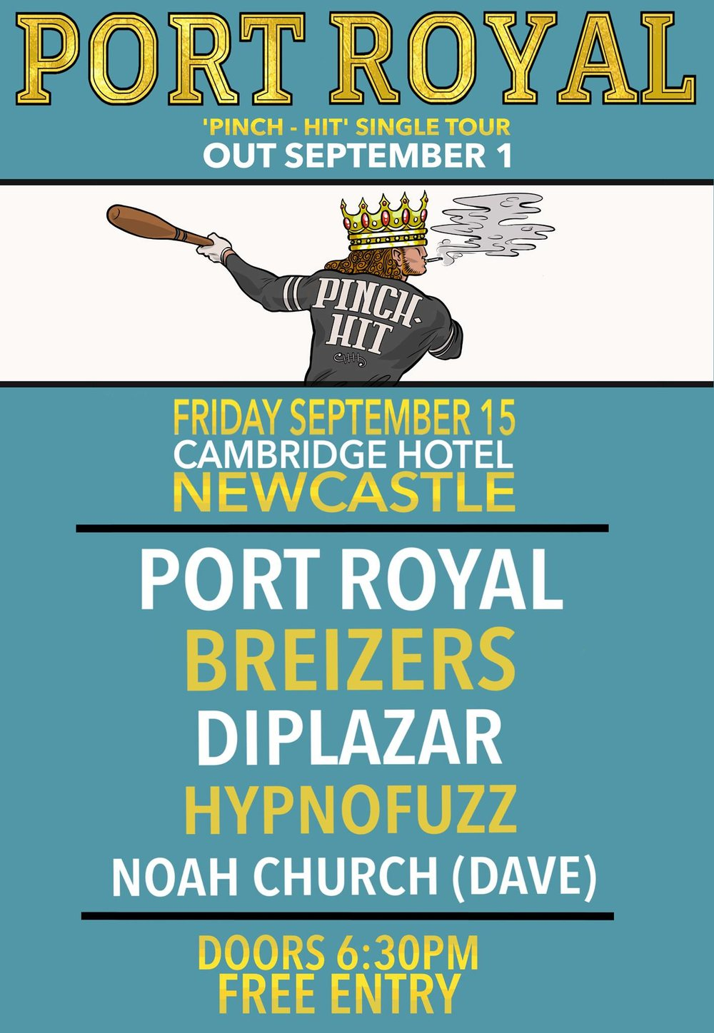 port royal tour poster newcastle