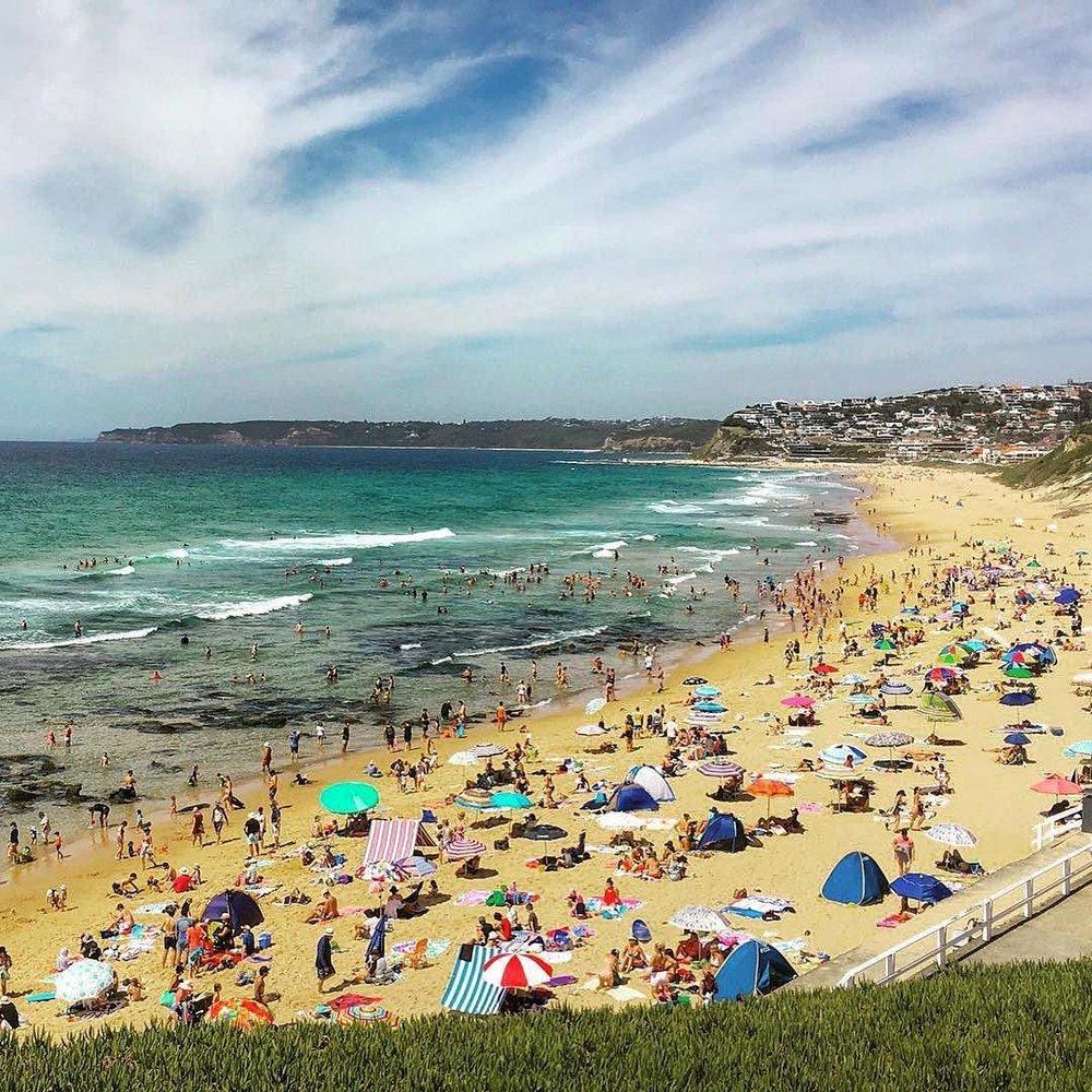 Newcastle Bar Beach Cooks Hill summer holidays