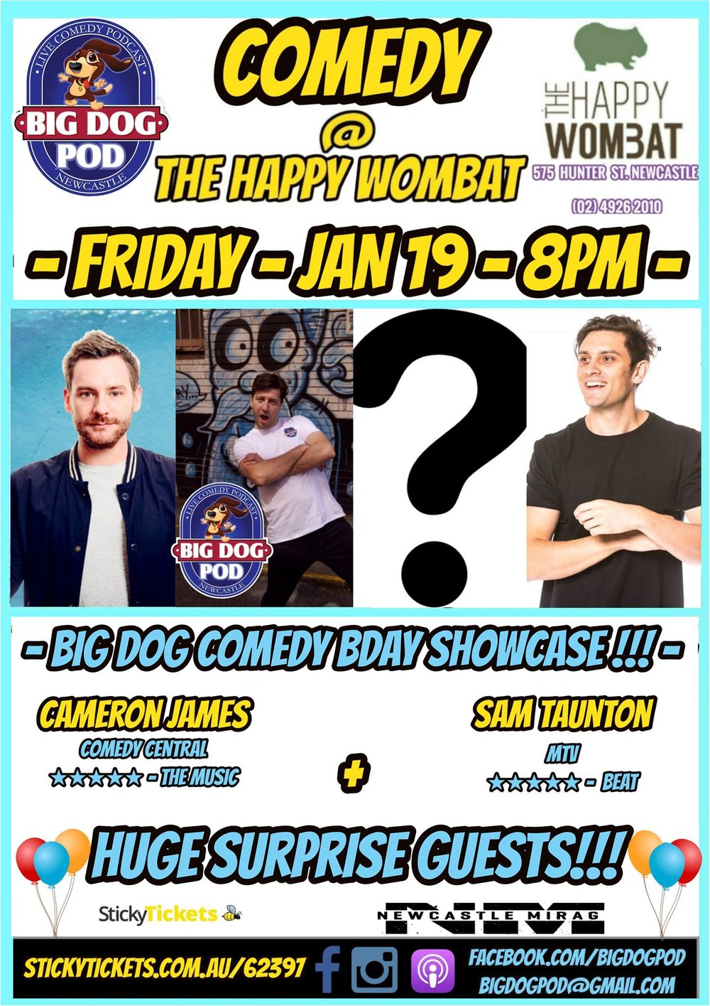 Bid Dog Pod comedy The Happy Womabt
