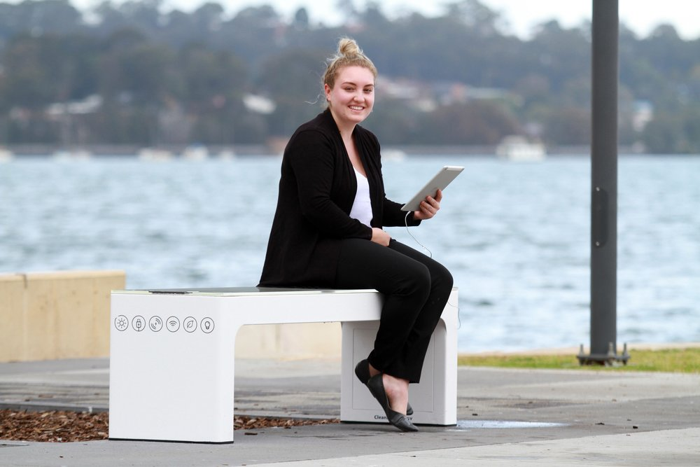 Smart bench installed in Warners Bay