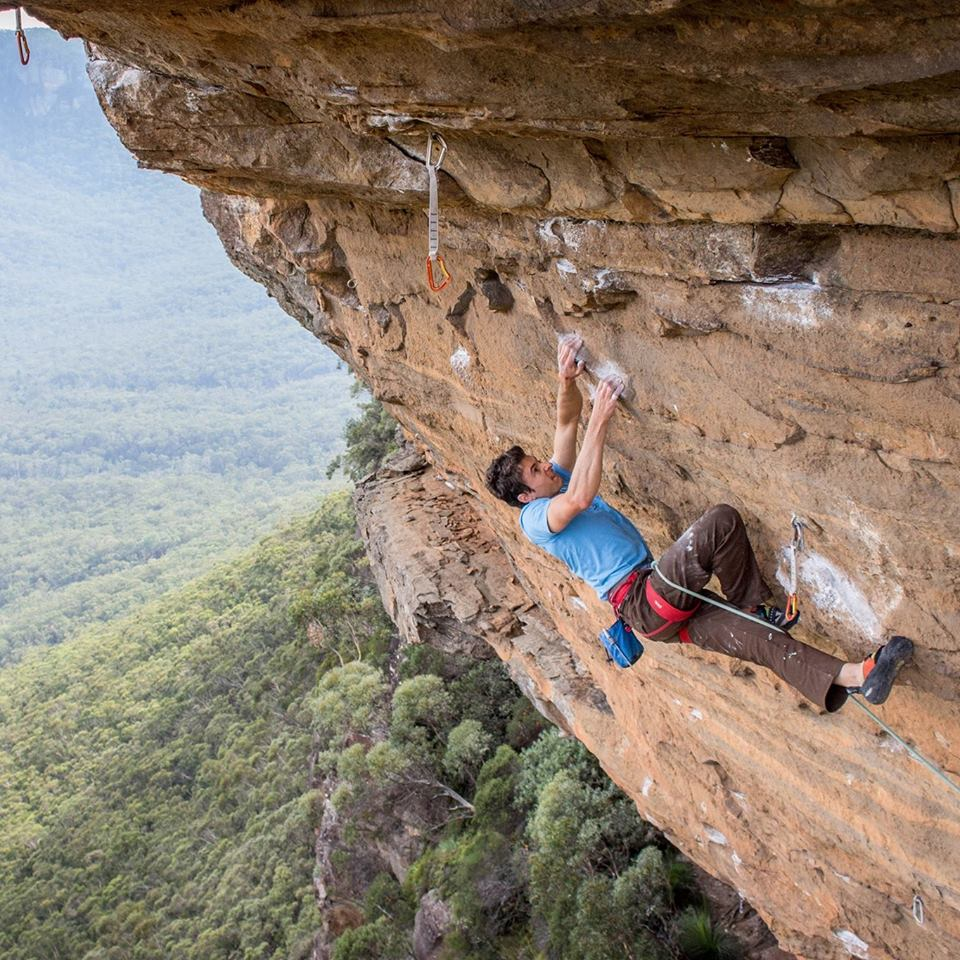 Jack Climbing in the Blue Mountains.
