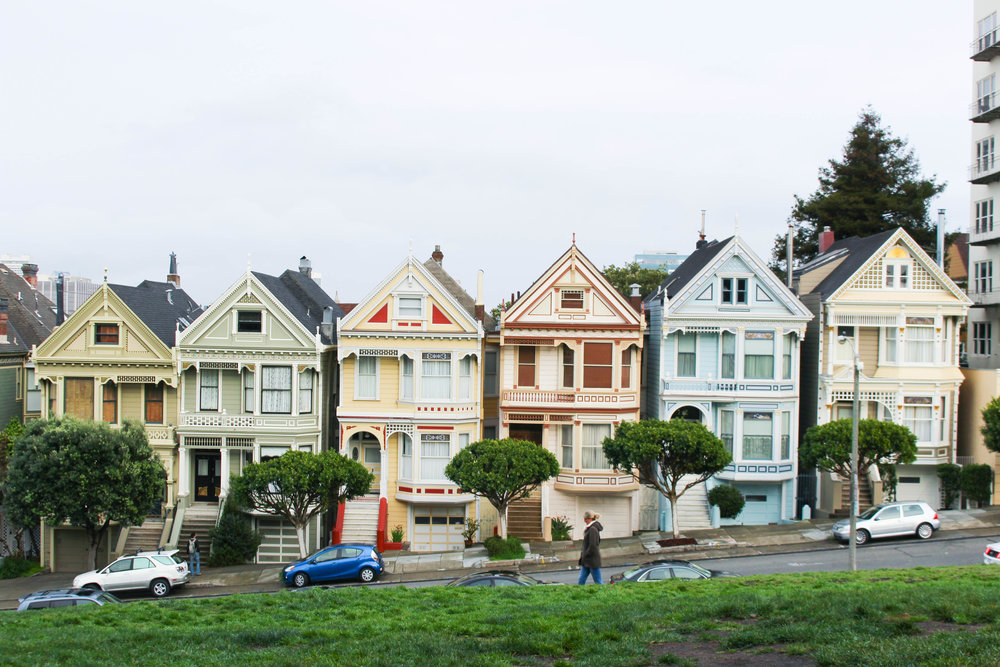 the painted ladies in alamo square