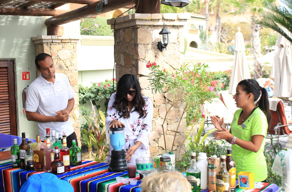 bartending class at the Luxurious Sheraton Grand Los Cabos