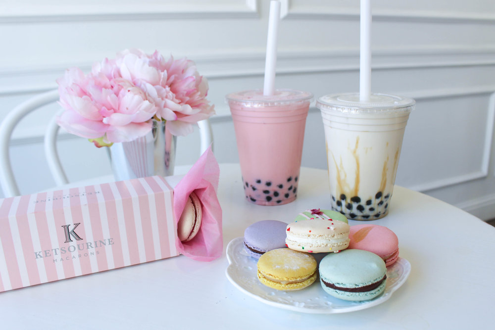 Ketsourine Macarons and bubble tea in San Francisco