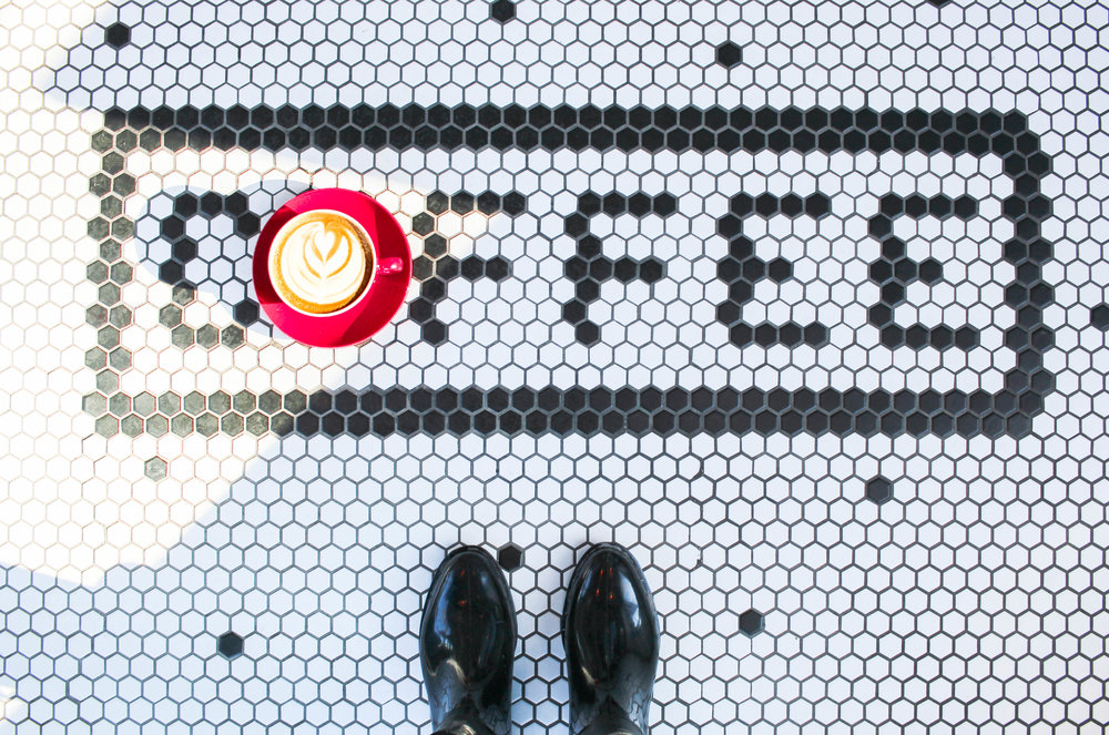 coffee and tiles at reunion island coffee in toronto