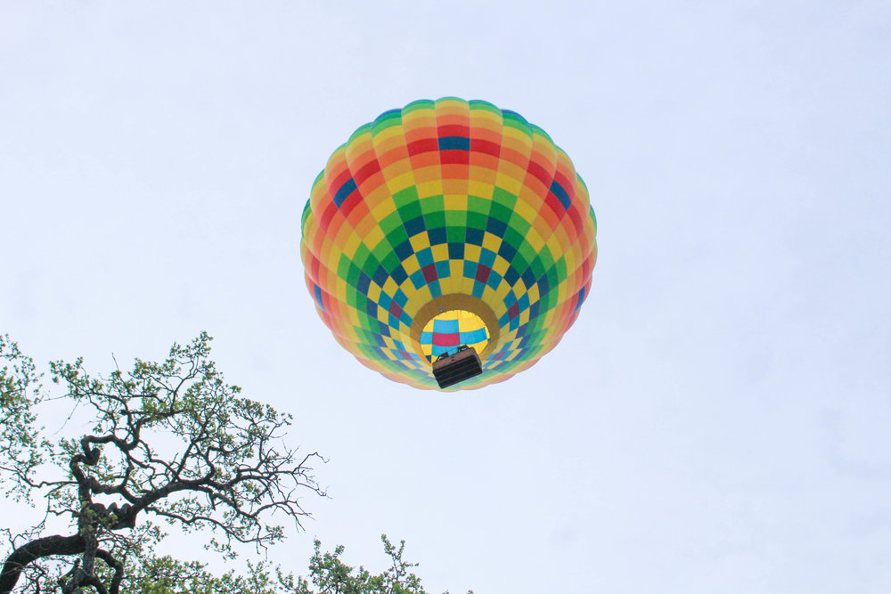 SUGAR & STAMPS - FLOATING OVER NAPA VALLEY IN A HOT AIR BALLOON