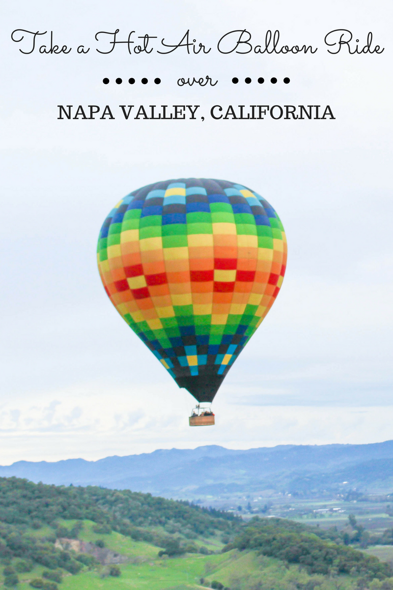 Floating Over Napa Valley in a Hot Air Balloon