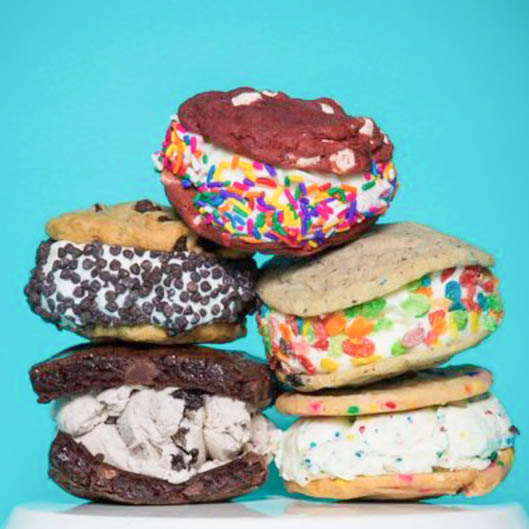 - What to Order? Get an ice cream sandwich and choose between a variety of cookie and ice cream flavors.Let your imagination run wild! These guys are ready to put on a show with any flavor, any day of the week.photo: postmates.com