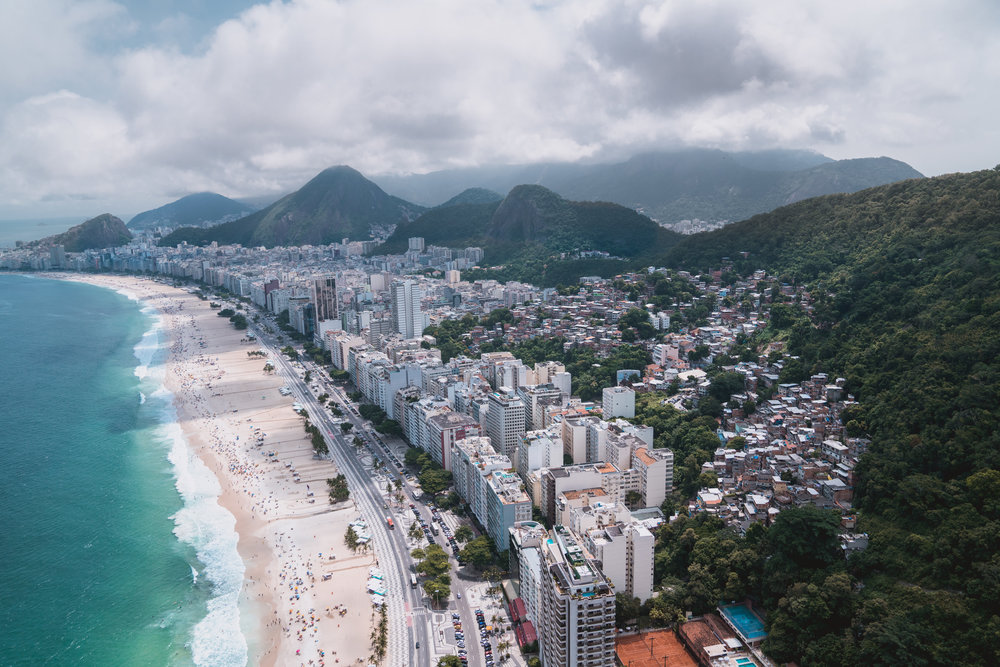 OUR VIEW WHILE SOARING OVER RIO DE JANEIRO'S BEAUTIFUL BEACHES