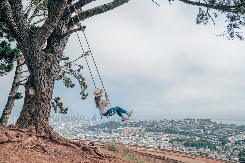 Bernal Heights Swing at Bernal Heights Park, San Francisco, California