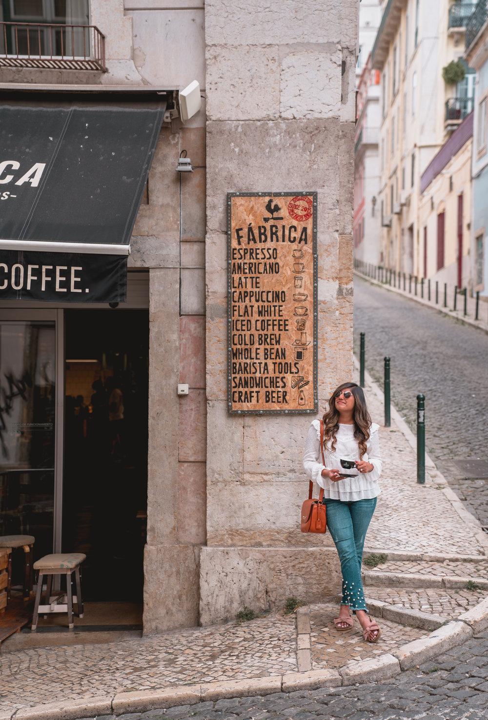 Coffee Break at Fabrica Coffee Roasters in Lisbon, Portugal