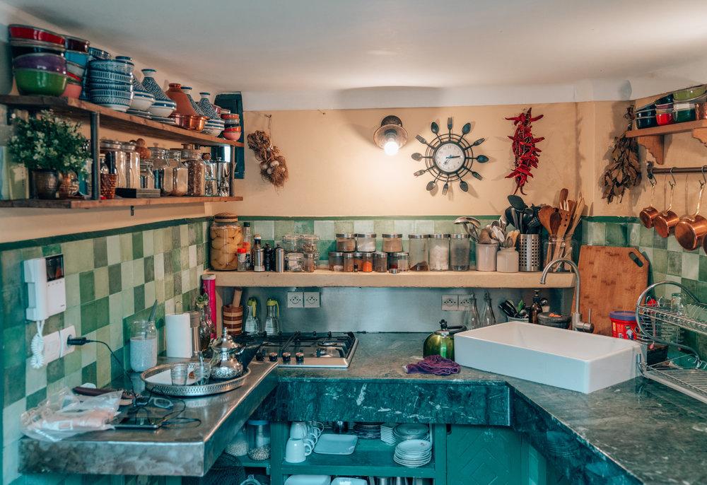 Riad Anata Kitchen in Fes, Morocco