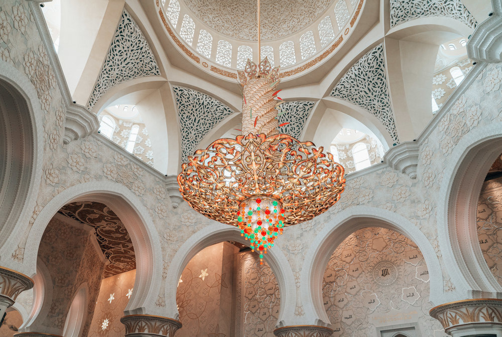 The largest chandelier, weighing 12 tons and consisting of 20 million Swarovski crystals.