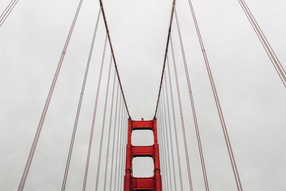 DRIVING ACROSS THE GOLDEN GATE BRIDGE