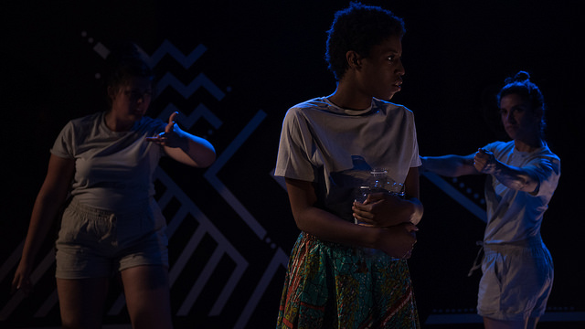 - Tembo! was produced with Dramatic Adventure Theatre; teaching and communing with the Mloka community in Tanzania.           Lights: Erin Jones                                                                   Scenic: Elle Kunnos de Voss and Francisco Rondon               Road Manager & Dramaturg: Jacqueline Kafipha           Photos by Kevin McNair