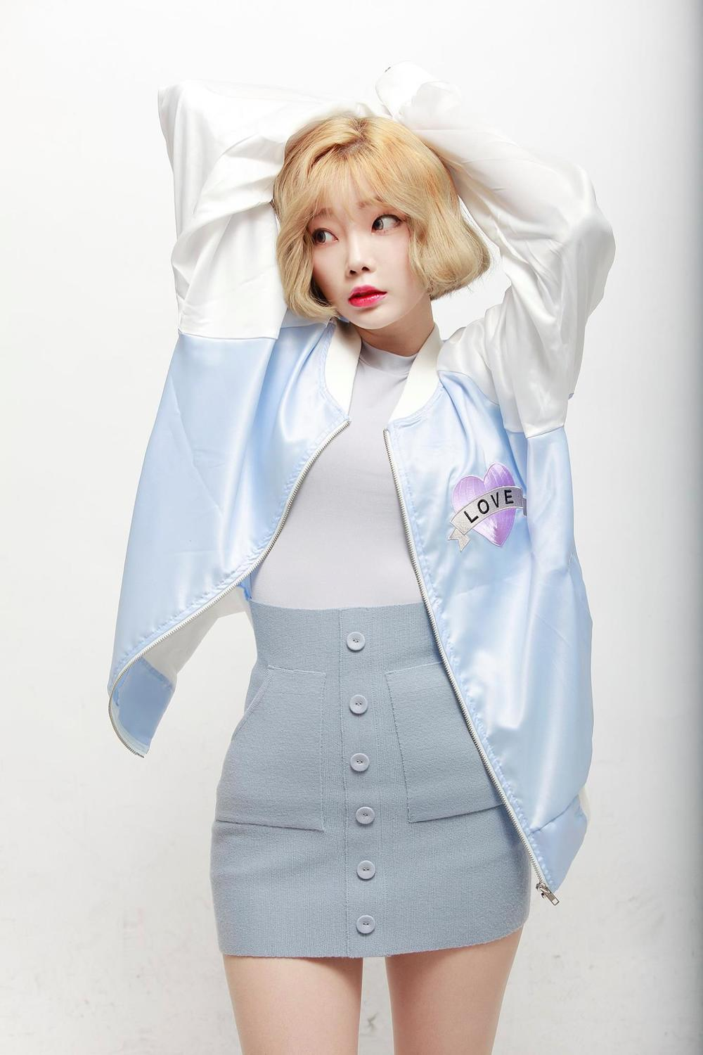 "Behold, the it-item in Korea right now, the ""suka-jan"" jacket, modeled by Hajeong KO and photographed by Yangi HYEON."