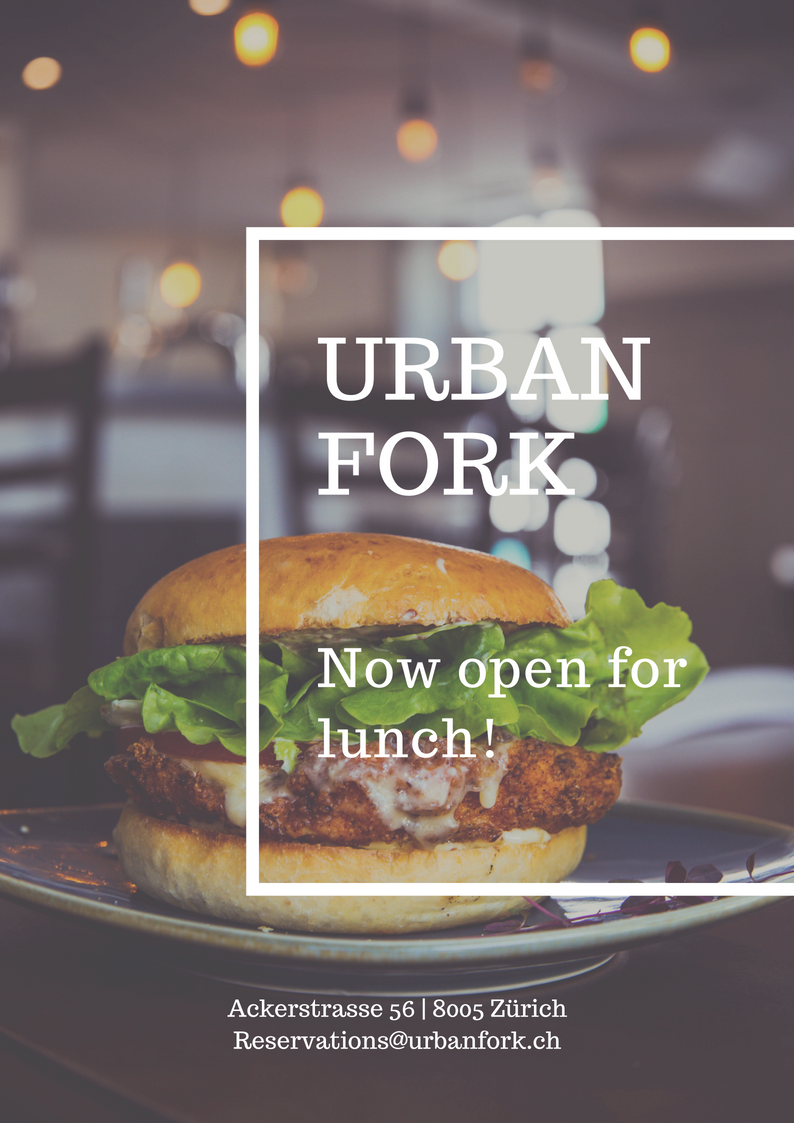 Urban Fork is an inspired craft kitchen with a cozy, energetic vibe located in lively downtown Zürich.  We believe in the value of traditional, small batch, craft cookery, where every menu item is thoughtfully created by our dedicated chefs.  We take the time to locally source as many of our ingredients as possible and are fully committed to sustainable food ways.  We work with a community of passionate food producers, importers and makers to ensure you an unforgettable culinary experience at every meal.