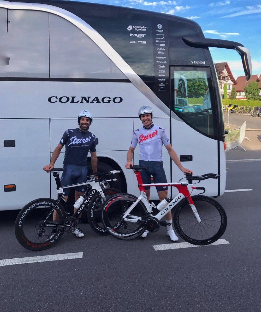 Doppelpodium am Prolog der Tour de Suisse Challenge in Cham (ZG ...