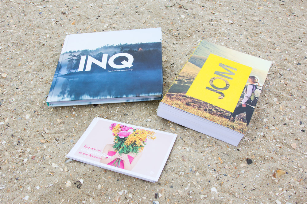 The Ultimate Bundle featuring the JOM, INQ and gratitude postcards. Image credit: Wellineux.
