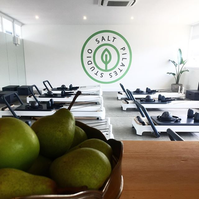 Loving our new local Pilates studio @salt_pilates_studio 😍😍 literally a 3 minute walk from home and such a calming interior- perfect for early morning workouts!