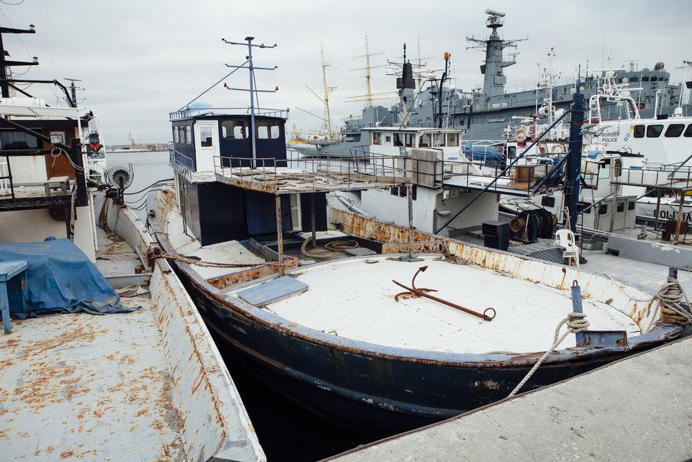 In Gewahrsam genommenes Schlepper-Boot Hafen, Constanta