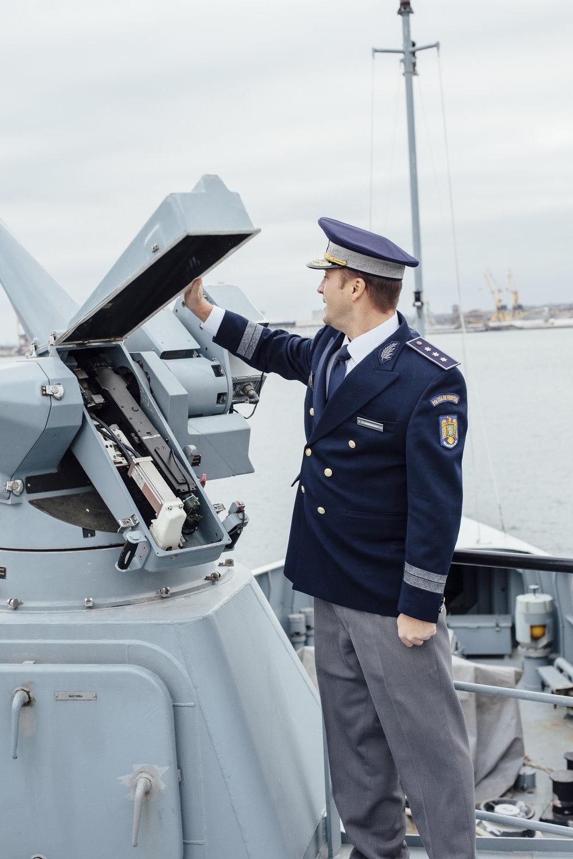 Das Maschinengewehr OPV (Offshore Patrol Vessel) 6610, Constanta