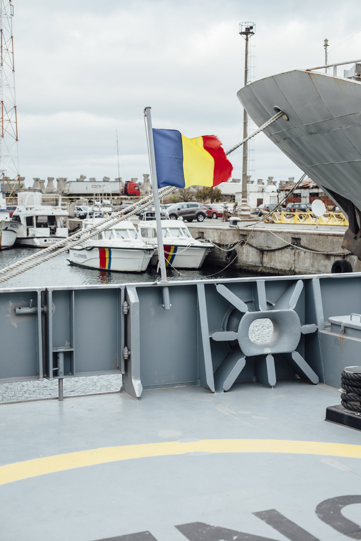 Rumänische Flagge OPV (Offshore Patrol Vessel) 6610, Constanta