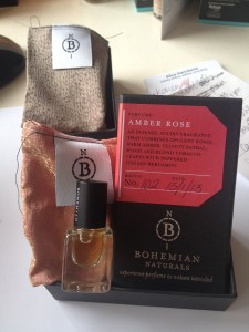 Fragrant experience: Bohemian Naturals Amber Rose