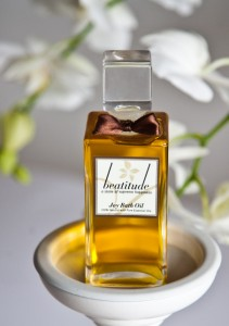 State of bliss: Beatitude bath oil