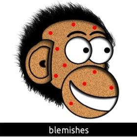 A spotty chimp!