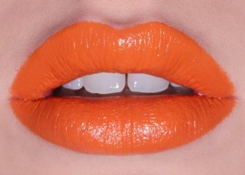 They're big: orange lips, very 2014. This colour and pic are from LimeCrime