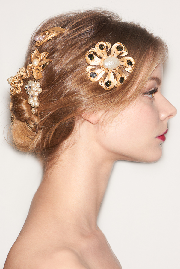 The jewelled chignon: photo by Lucas Flores Piran for Redken