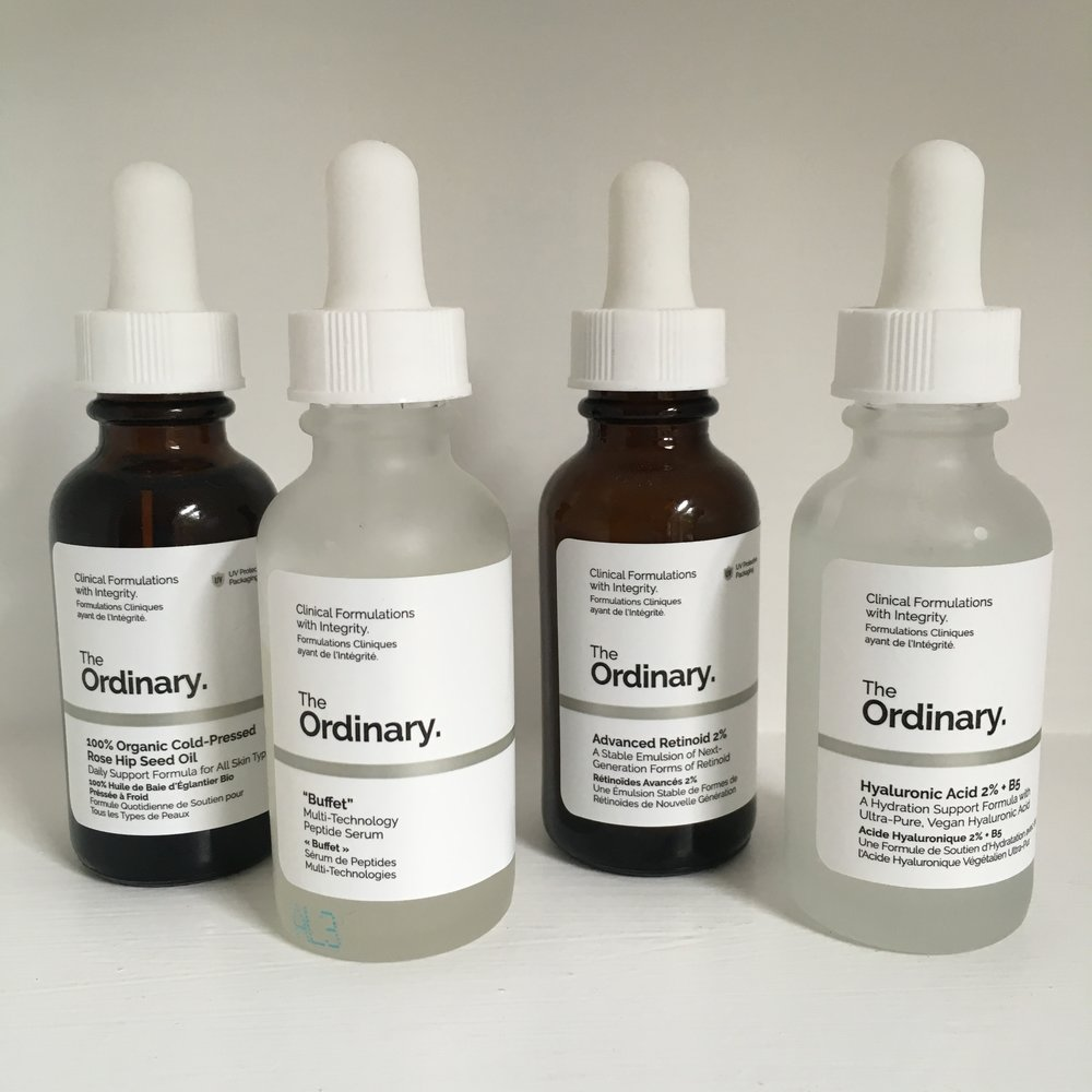My four first-choices from The Ordinary.