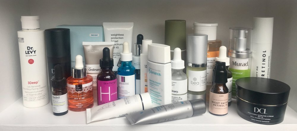 Some of my 'normal' skincare stash...
