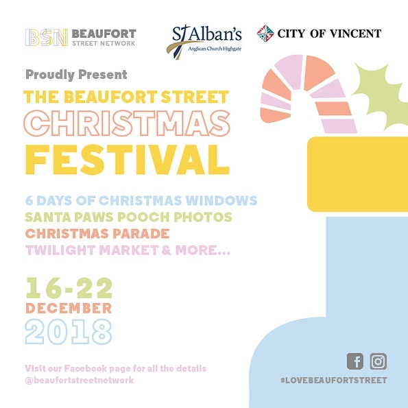 We know we've been a bit silent if late but that's because we've been working hard on the first ever @beaufortstreetnetwork Christmas Festival. With a week's worth of festive fun from Dec 16-22 Beaufort St is the place to be. Partnering with St Albans Anglican Church for some great family fun! Visit https://www.facebook.com/events/624999351249014/?ti=ia for all the details. #santapawsphotos #6daysofchristmaswindows #twilightmarkets #christmasparade #community #family #creatives
