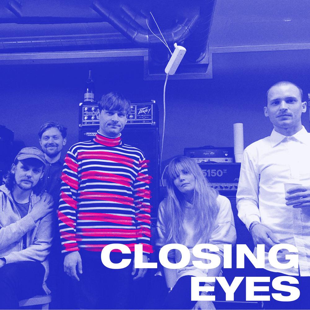 Fra å være solo-prosjektet til Eirik Asker Pettersen, primus motor bak det nå nedlagte Bergensbandet Lovecult er Closing Eyes nå et helt band på vei mot debut-utgivelse. Med sin lavmælte pop danser de seg inn i sommer-festival-natta.