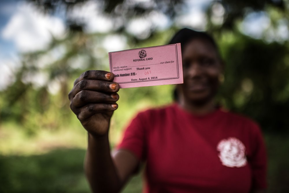 The referral cards used by VODA volunteers to refer young people for sexual and reproductive health services
