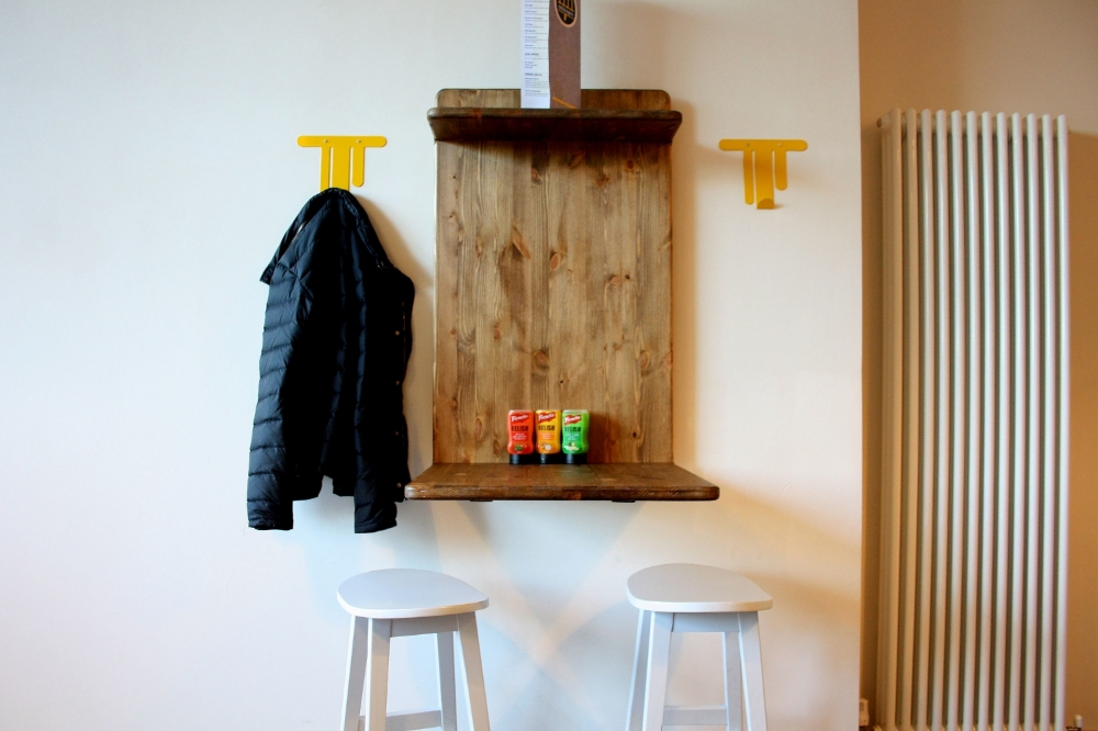 Custom designed coat hooks