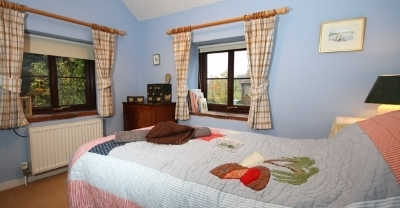 The single bedroom at Rose Cottage