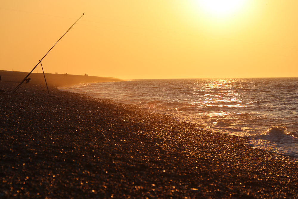 Cley Beach at sunset