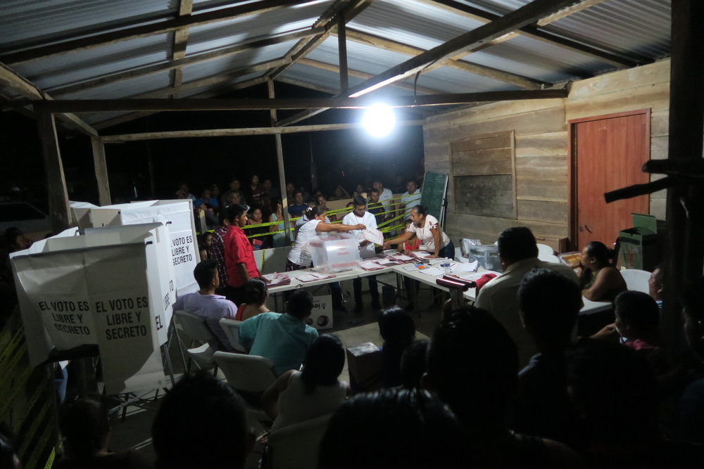 ballot counting lasted well past midnight