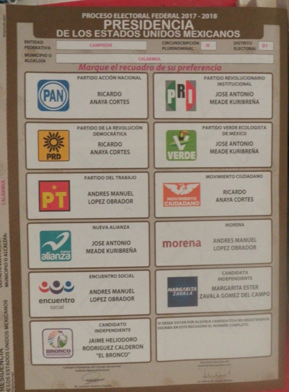 the presidential ballot