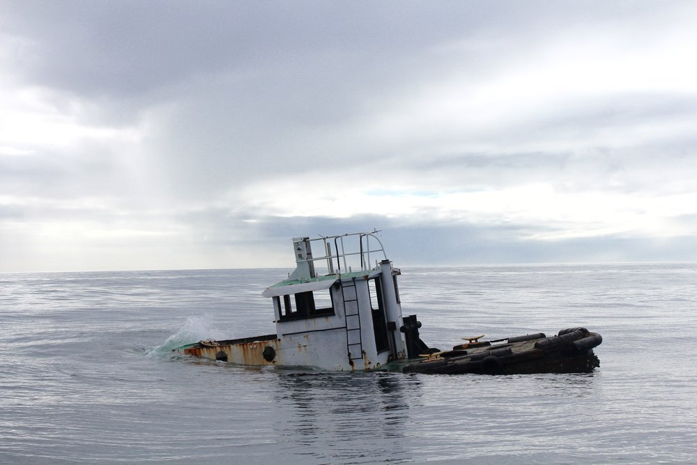 The Apollo, a retired tugboat, was sunk in early 2017 at the popular Little River Reef. (Photo: E. Weeks/SCDNR)