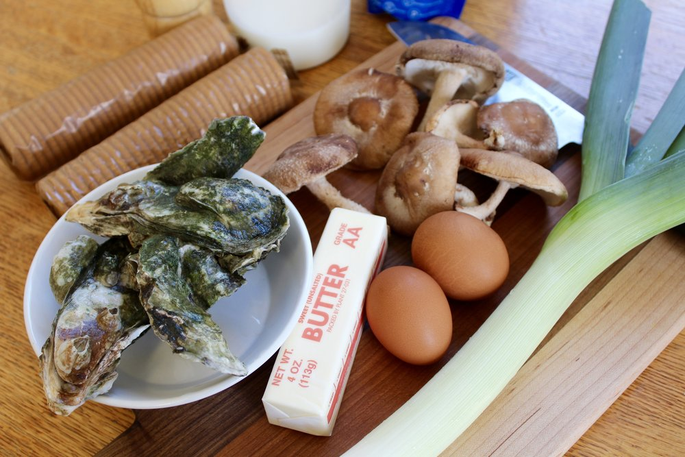 Aside from the oysters, substitutions are possible for many of the ingredients in this recipe. (Photo: E. Weeks/SCDNR)