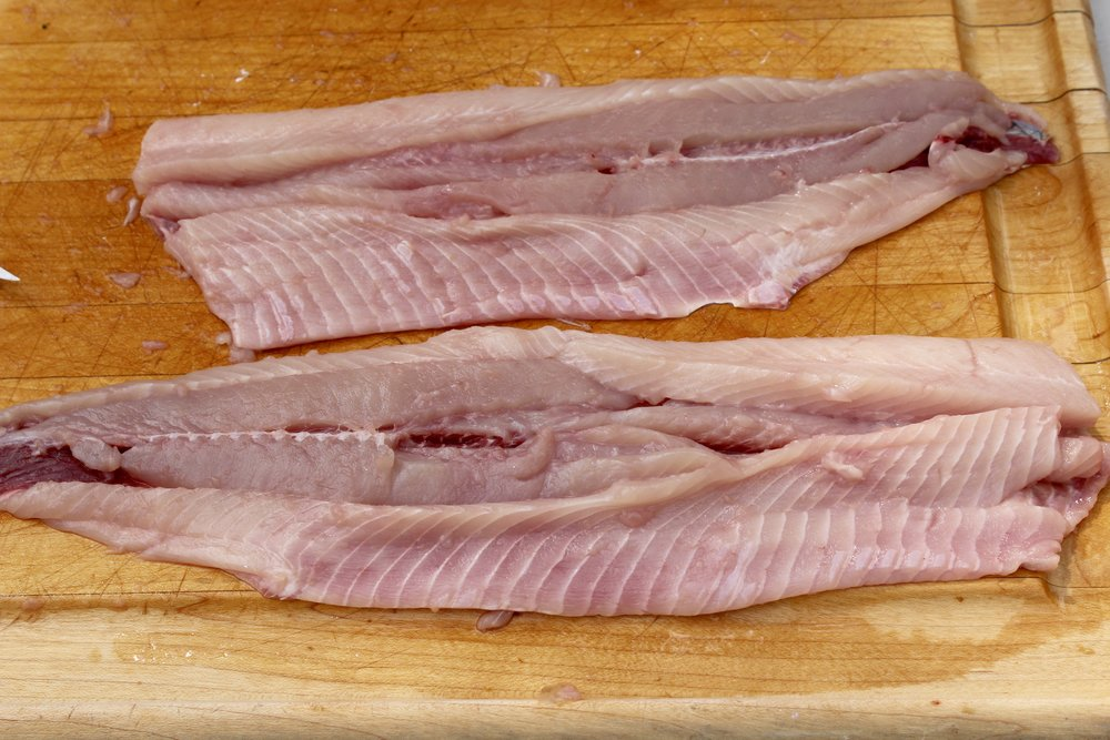 The finished product, when done right,has many cuts but still resembles a set of fillets. (Photo: E. Weeks/SCDNR)