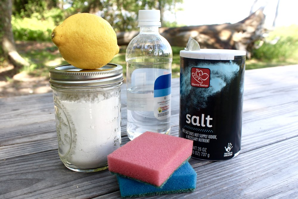 Just add water: here's all you need for a basic 'green' boat cleaning kit. (Photo: E. Weeks/SCDNR)