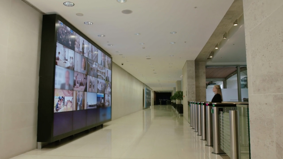 More and more corporate office buildings are equipped with resources that display moving image content to hundreds of employees daily.