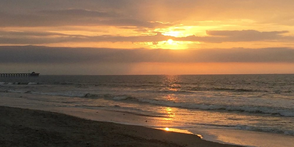 Sunrise on Oak Island, December 2016